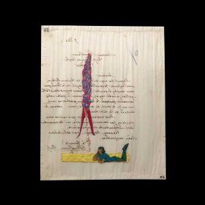 Marcel Miracle 37,5 x 30 cm Dessin sur collage. Pièce unique