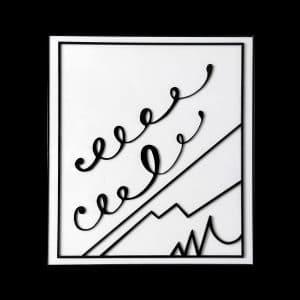Bertrand Lavier (Walt Disney). Sans titre. 78 x 70, 30 exemplaires signés et numérotés.