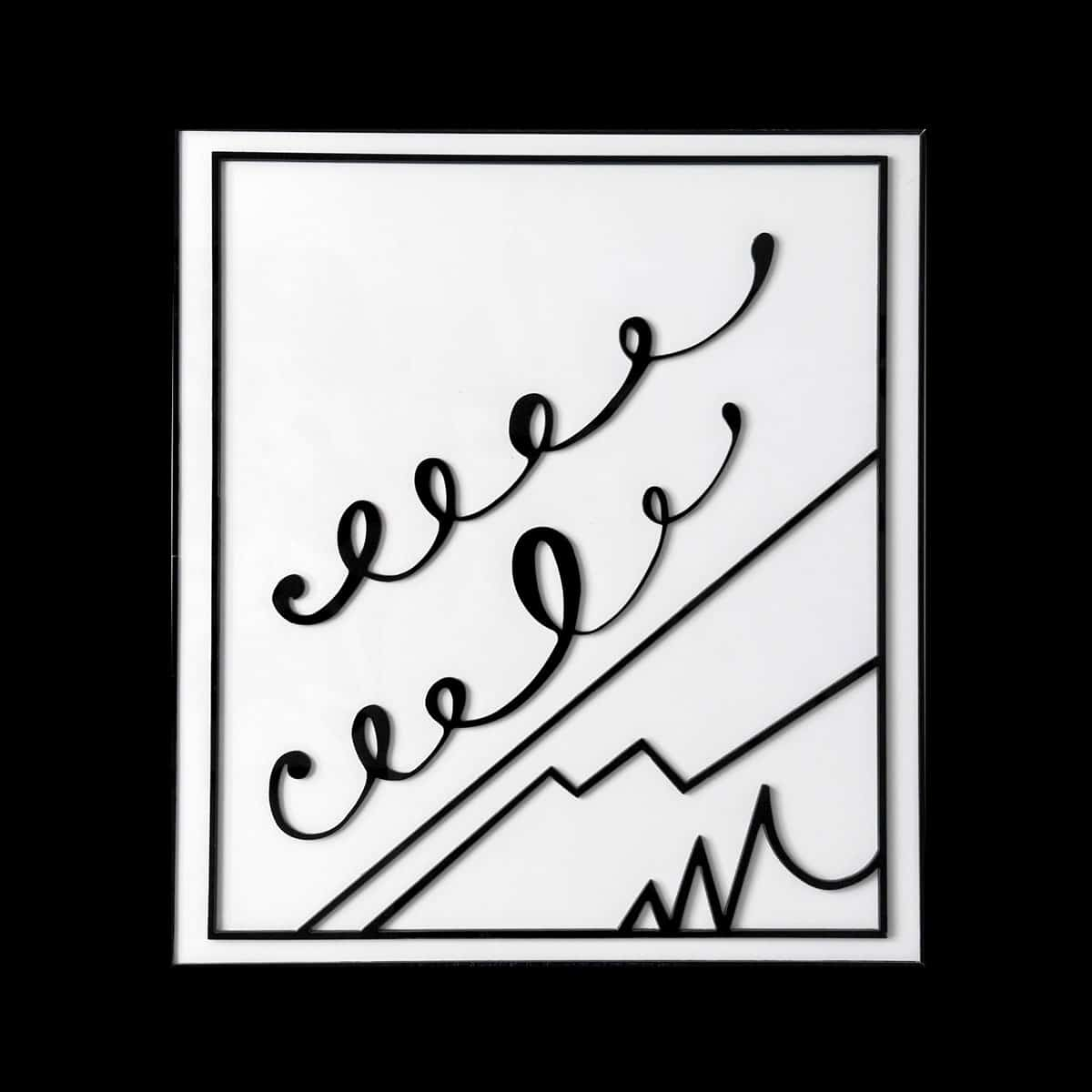 Bertrand Lavier, Walt Disney Productions, 2016. Plexiglass, 78 x 70 cm. 30 exemplaires signés et numérotés