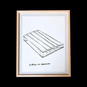 Dessin « Sans titre » (palette), 36 x 27 cm. Simon Jacquard
