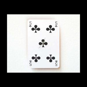 Sans titre, (horloge), carte à jouer, mouvement de montre, 8,5 x 5,5 cm, 2014. Edition 32 ex.