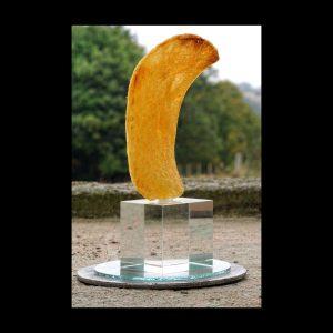 Monument aux chips mortes, (maquette), 4 x 4 x 13 cm, 2015 Edition 15 ex.