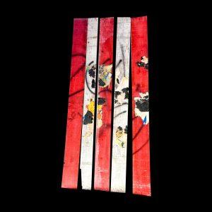 Raymond Hains « Palissades x 5 » 200 x 83 cm