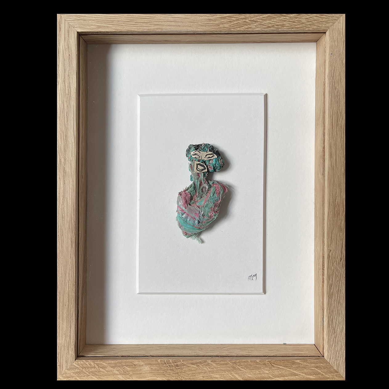 Marcel Miracle, Sans titre, 2016. Collage 37,5 x 30 cm